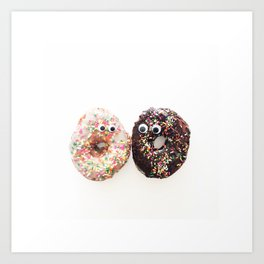 Donut Conversation Food Photography Art Print