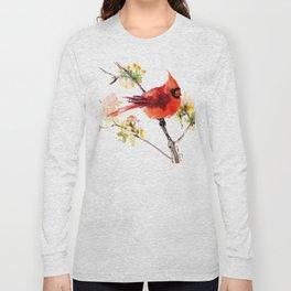 Cardinal Bird in Spring Long Sleeve T-shirt