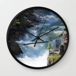 The Rush of the River 2 Wall Clock