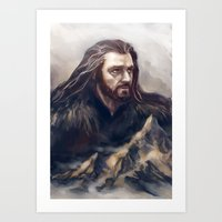 thorin Art Prints featuring Thorin by Ka-ren