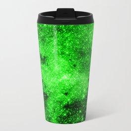 galaxy Stars 3 Bright Green Travel Mug