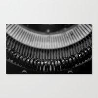 typewriter Canvas Prints featuring Typewriter by Anne Seltmann