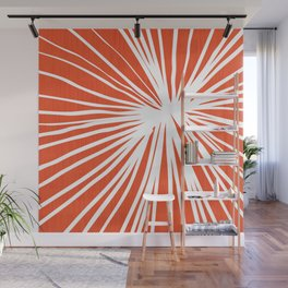 Dandelions in Red by Friztin Wall Mural