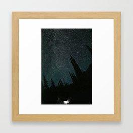Wallowa Mountain Sky Framed Art Print