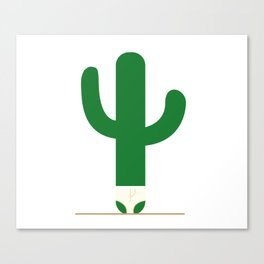 Cactus in underpants. Canvas Print