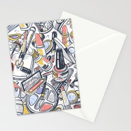 Artistic Mixture Of Sexy Makeup Stationery Cards
