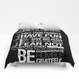 """MIMS CUSTOM ORDER— Personalized """"Mims Family Rules"""" Comforters"""