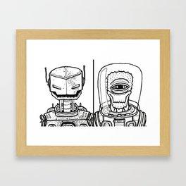 B&W Weirdos 22 Framed Art Print