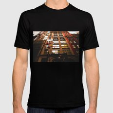 City Life Black Mens Fitted Tee SMALL