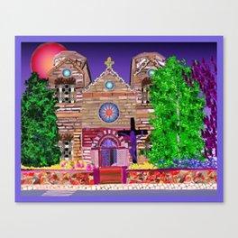 jesus painted purple Canvas Print
