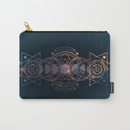 Dark Moon Phase Nebula Totem Carry-All Pouch