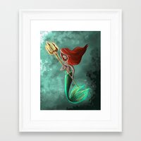 ariel Framed Art Prints featuring Ariel by Laia™