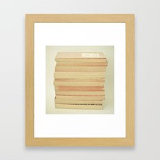 Patterns and Pages Framed Art Print