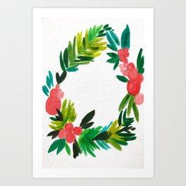 Colorful Wreath  Art Print