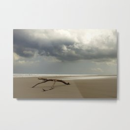 empty beach in the netherlands | nature photo | fine art photo print | travel photography Metal Print