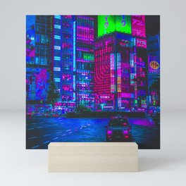Retro Game VHS Cyberpunk City Mini Art Print