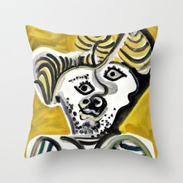 Pablo Picasso - Man's head - Digital Remastered Edition Throw Pillow