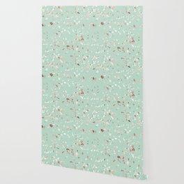 Minty Pink Wallpaper