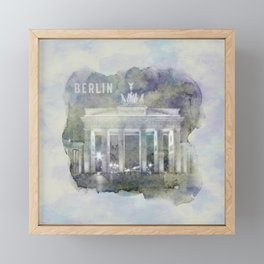 BERLIN Brandenburg Gate | watercolor Framed Mini Art Print