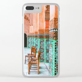 Wandering through marrakech Clear iPhone Case