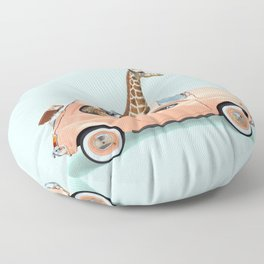 GIRAFFE CAR Floor Pillow