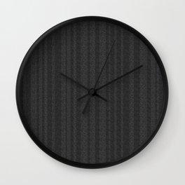 Rippled Textured Black Stripes Wall Clock