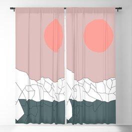 Geometric Landscape 17 Blackout Curtain