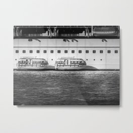Tender Boats On A Cruise Ship Metal Print