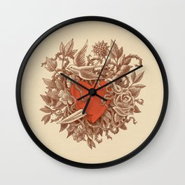 Heart of Thorns  Wall Clock