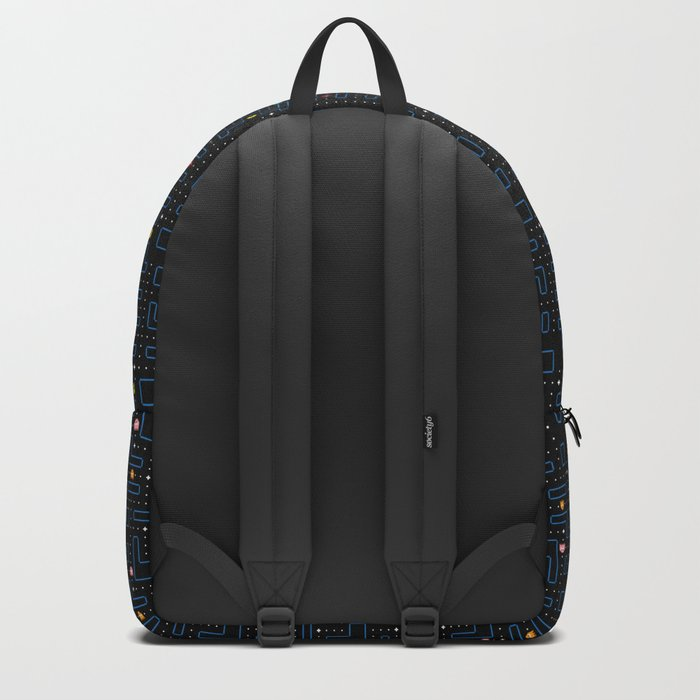 Pac-Man Retro Arcade Video Game Pattern Design Backpack