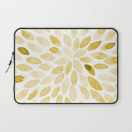 Watercolor brush strokes - yellow Laptop Sleeve