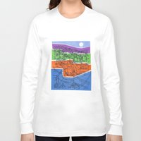 seoul Long Sleeve T-shirts featuring Seoul City #1 by Rob McClelland