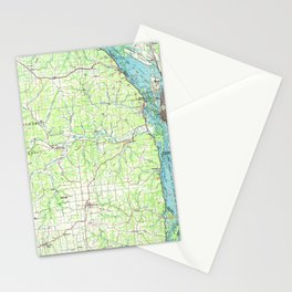 WI La Crosse 803110 1984 topographic map Stationery Cards