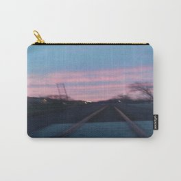 Blurry Train Track Sunset Carry-All Pouch