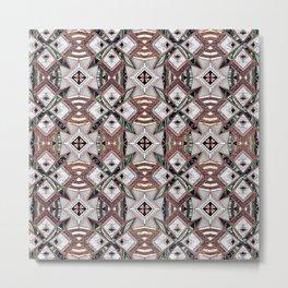 Pattern mosaic tribal geometric Metal Print