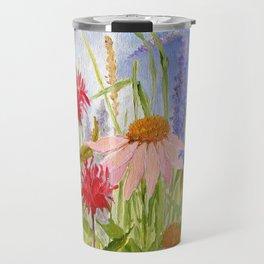 Garden Flowers on Sunny Day Travel Mug