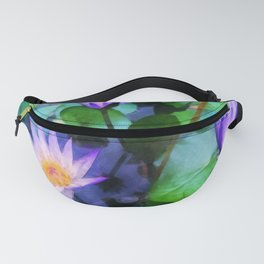 Purple Lotus Fanny Pack
