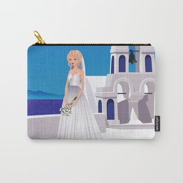 Bride in Mykonos Carry-All Pouch