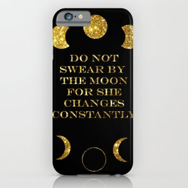 Moon Phases Gold iPhone Case