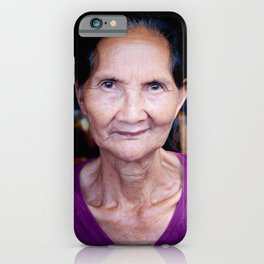 Balinese woman - portrait - travel photography iPhone Case
