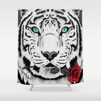 rose Shower Curtains featuring Rose by Roland Banrevi