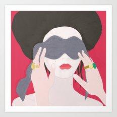 Eyes, blindfold Art Print