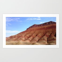 colorful mineral mountain photography 2 Art Print