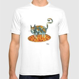 Pepperoni, Black Olives and Cat T-shirt