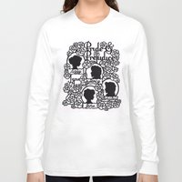 pride and prejudice Long Sleeve T-shirts featuring Pride & Prejudice Papercut  by eileenlim