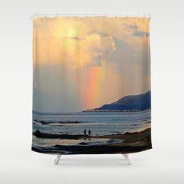 Adventure under the Rainbow Shower Curtain