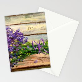 Bouquet of lavender Stationery Cards