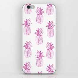 Pink Power Pineapple iPhone Skin