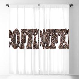 Coffee Bean Word Blackout Curtain