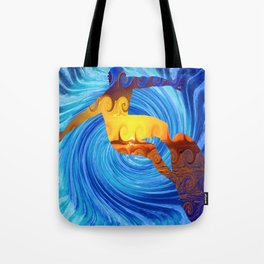 Surfing the Hurricane Barrel Wave Tote Bag